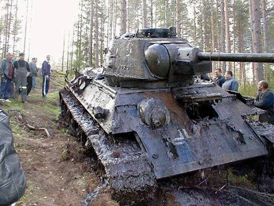 WW II Russian tank
