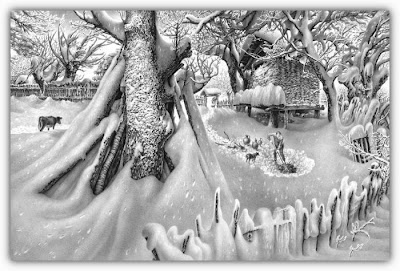 winter drawings arts