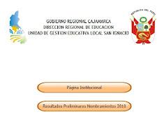 UGEL SAN IGNACIO publico resultados preliminares de nombramientos
