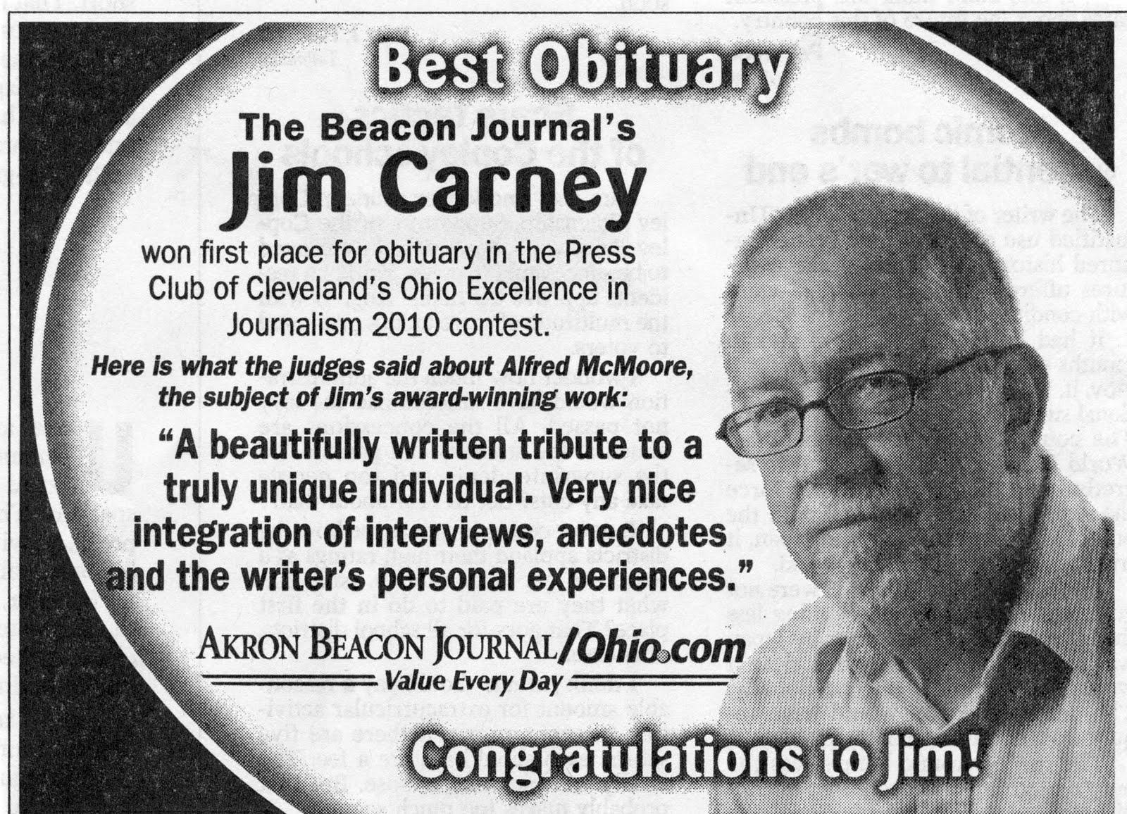 Bj Alums Bj Promo Ad Touts Award To Jim Carney