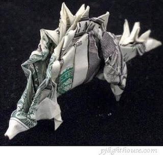 image dinosaurs money unique origami