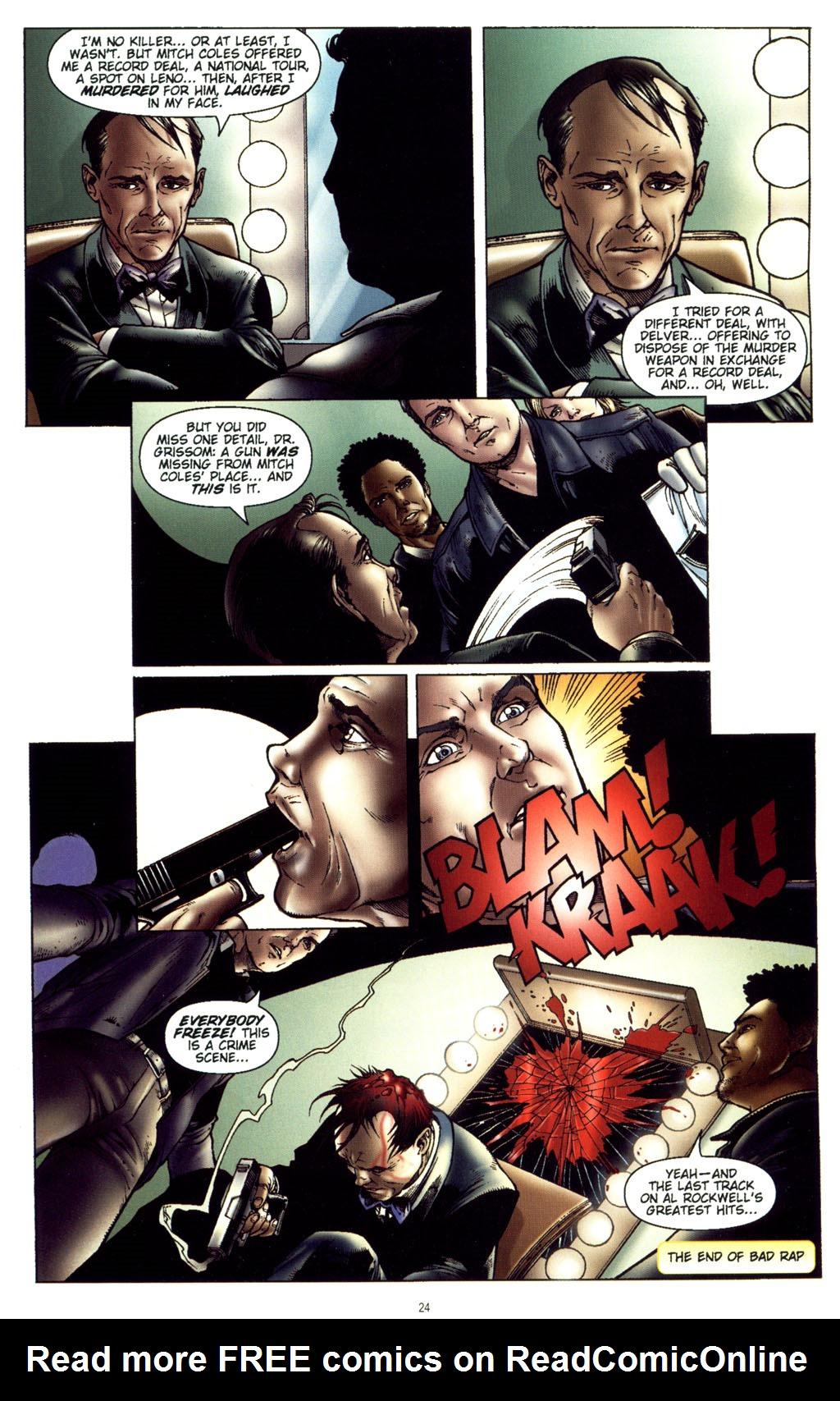 Read online CSI: Crime Scene Investigation: Bad Rap comic -  Issue #5 - 27