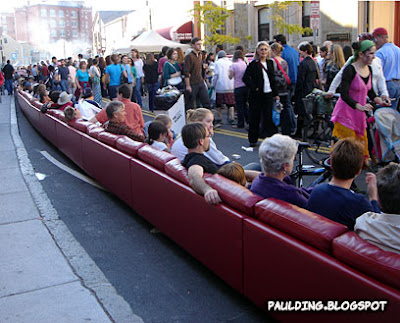 Avenue To Oktoberfest, The Harvard Square Business Association Pulled Out  The Longest Sofa. U2013 And Not Just Any Red Diva ...