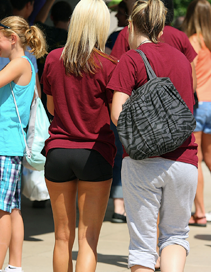 Volleyball girls from Robert Morris college.