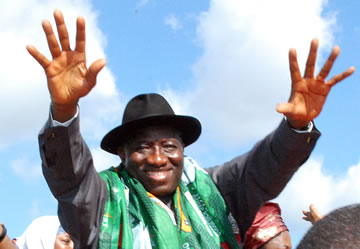 PRESIDENT JONATHAN FORMALLY DECLARES HIS 2011 PRESIDENTIAL RUN.