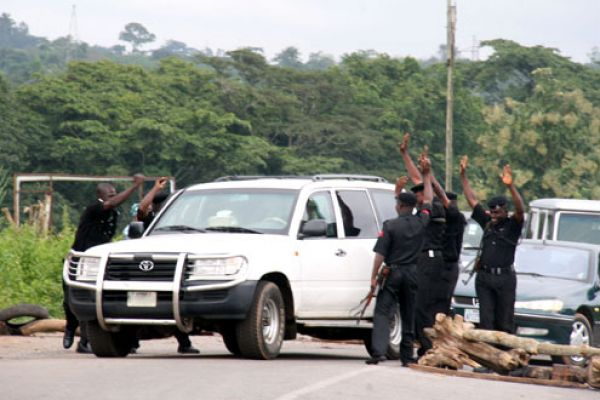 NIGERIAN POLICE FORCE, SURRENDERS TO \
