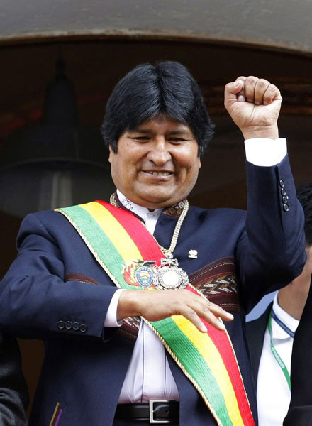 BOLIVIA'S PRESIDENT EVO MORALES UN-SPORTSMANLY BEHAVIOR.