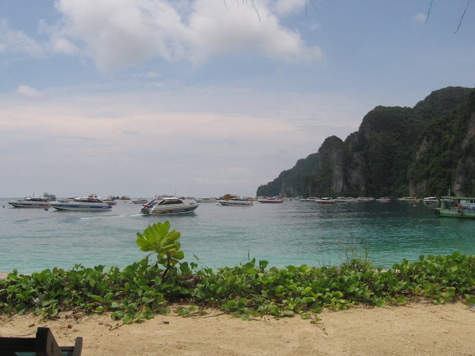 Just arriving in Ko Phi Phi and.