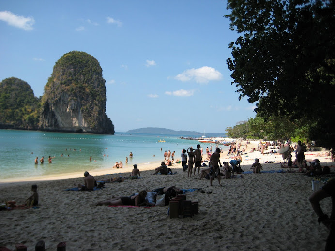 Railay Beach in the High season
