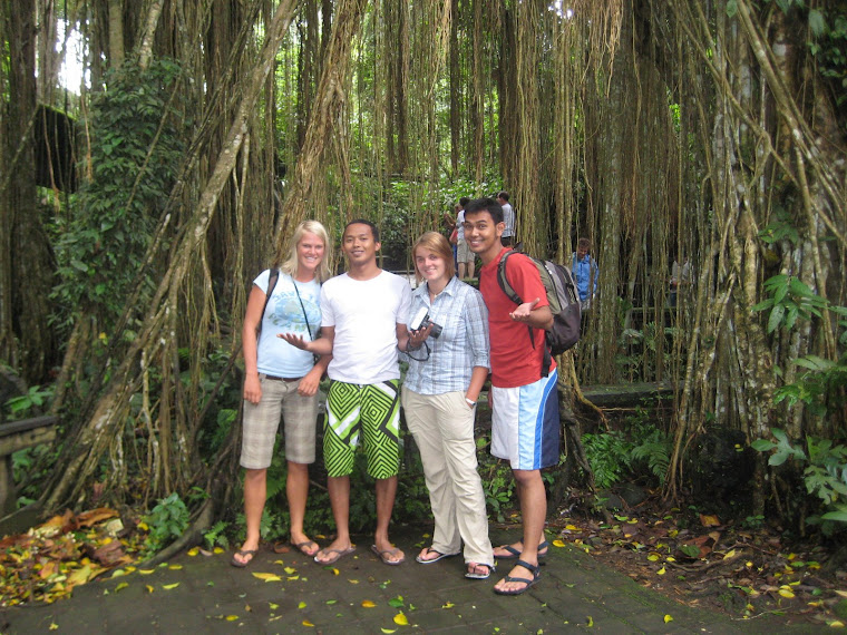 The four of us went to Ubud together