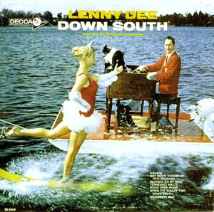 funny record album covers lenny dee down south waterski with piano odd