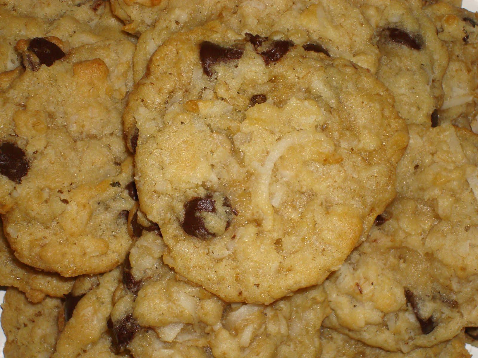 Rachel's Sugar Rush: Oatmeal Coconut Chocolate Chip Cookies