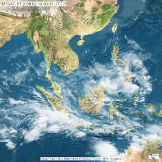 Satellite Image of SE Asia, 14th February