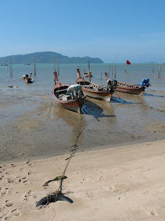 Longtail boats in Chalong Bay