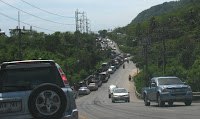 Traffic very heavy into Patong