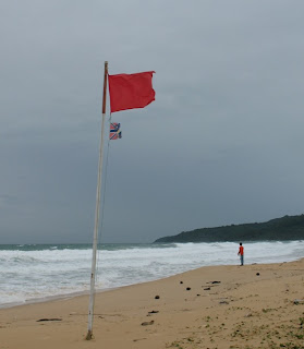 Red flag flying at Karon Beach, 19th June