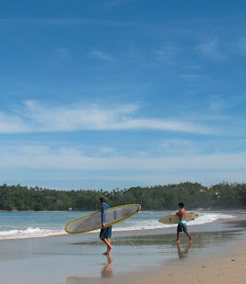 Heading into the..er..surf? Kata Beach 31st August.