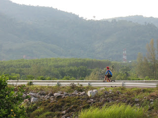 Cyclist on Bang Wad Dam, 31st May