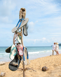 Sandal Beach Art, Karon Beach, 19th June