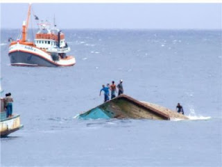 Sunken fishing boat off Racha Yai