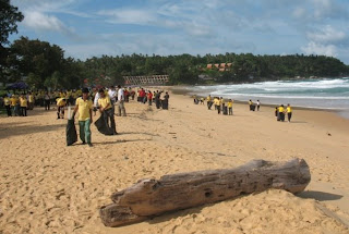 Cleaning up Karon Beach, 7th August