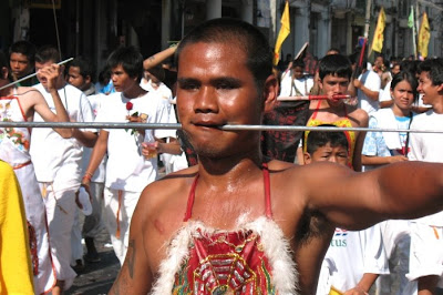 Phuket Town - Vegetarian festival October 6th 2008