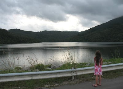 My daughter at Bang Wad Reservoir, 25th October 2008