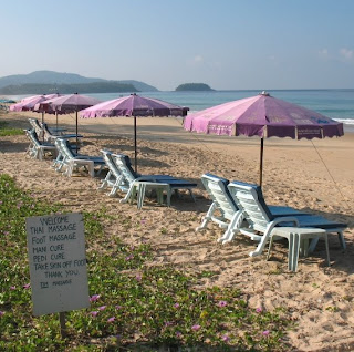 Vacant beach chairs, Karon Beach, 4th November