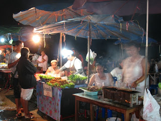 Food Stalls at Bang Wad Reservoir for Loy Krathong
