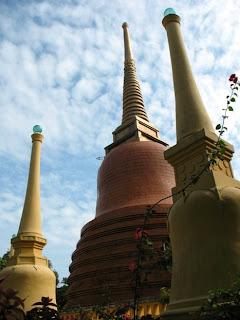 Chedis at the Mongkhon Nimit Temple, Phuket Town