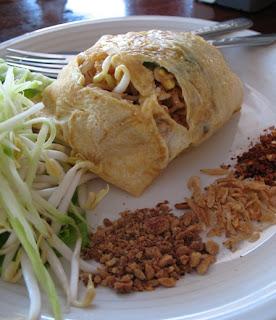 Phad Thai Hor Khai at Uptown Restaurant