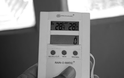 Data recorder for rain gauge