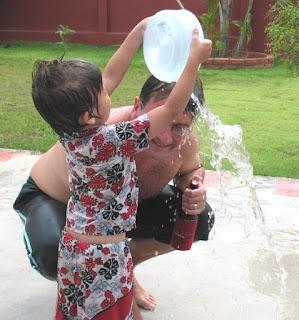 My son shows me some Songkran respect