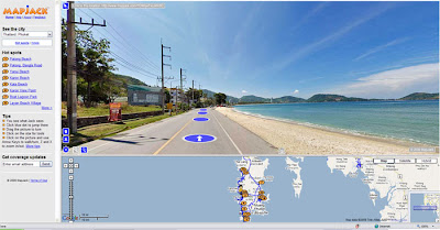 MapJack screenshot, Kalim Beach near Patong, Phuket