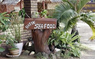 Batik Seafood Sign