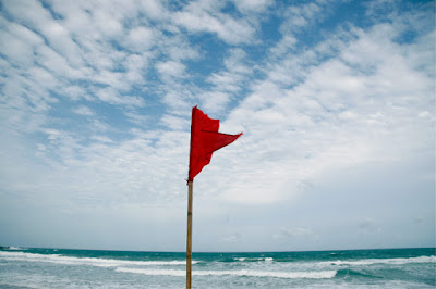 Red Flag at Karon Beach, 17th June
