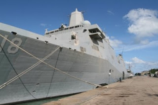 USS New Orleans docked in Phuket - Photo from Phuket Gazette
