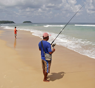 Fishermen at Karon Beach, Phuket