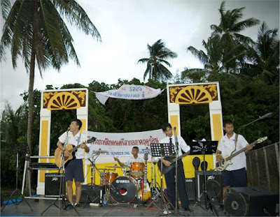 Band playing in Kathu village, Phuket 5th August