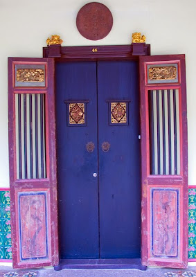 Chinese Doorway in old Phuket