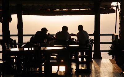 Sunset at Nakkerd Seaview restaurant