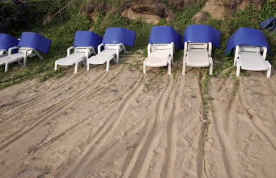 Beach chairs at Karon Beach