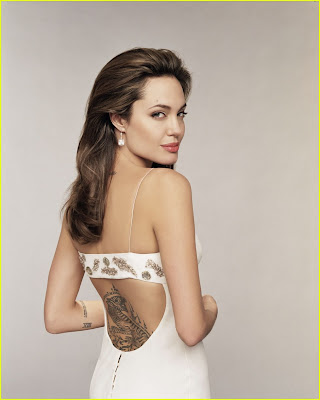 Angelina Jolie Tattoo Wanted Movie Poster with Gun on CheckOutMyInk.com