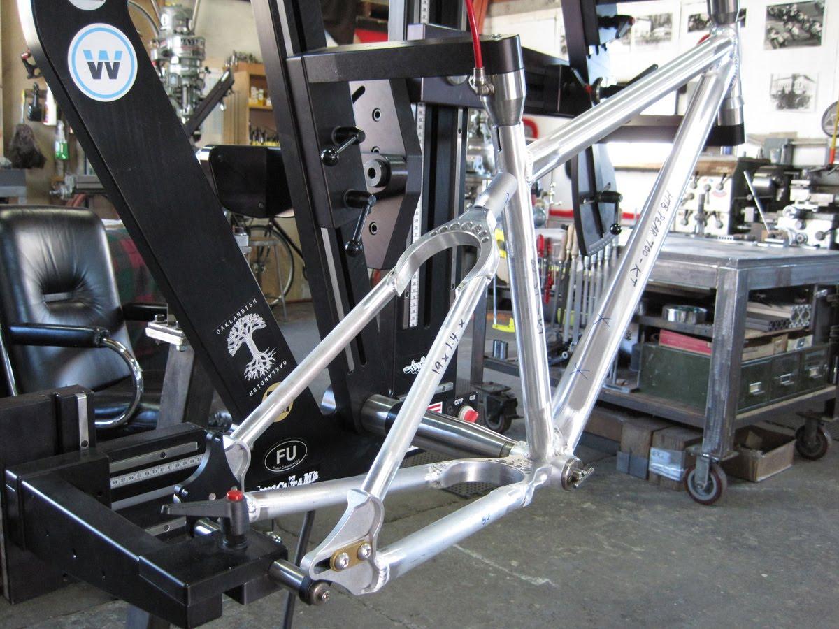 Estructura para hacer cuadro de bicicleta