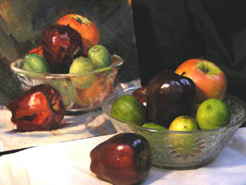 Glass Bowl of Fruit