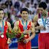 Chineses imitam armas em pódio nos Jogos Asiáticos e provocam saia justa com Japão