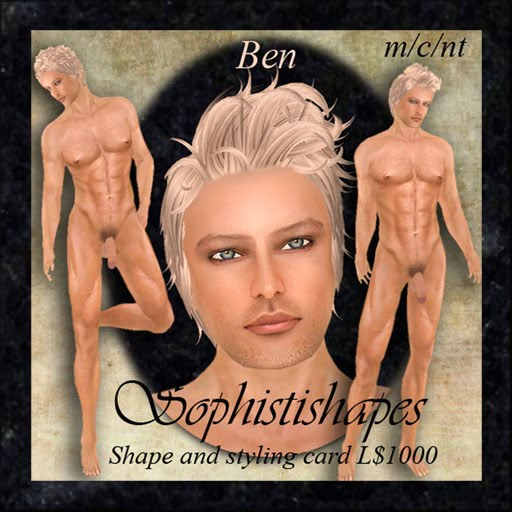 Next this week is Ben whose blonde models looks set him apart from the