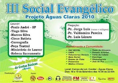 Eu Missionário Edson Sales apoio e convido você a esta contribuindo com a sua participação