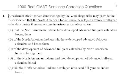 1000 Real Gmat Sentence Correction
