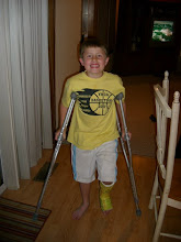 The super crutch boy!